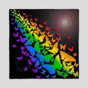 Butterfly Rainbow- Queen Duvet