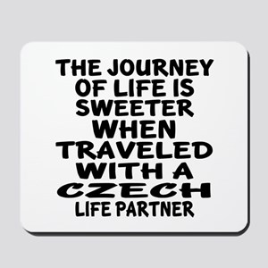 Traveled With Czech Life Partner Mousepad