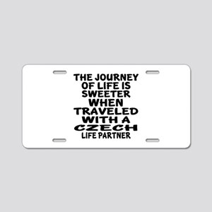 Traveled With Czech Life Pa Aluminum License Plate