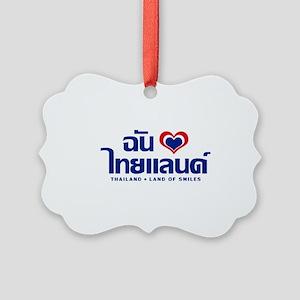 I Love (Heart) Thailand Picture Ornament