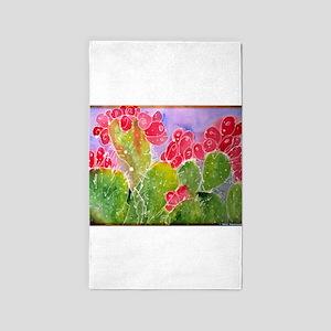 Cactus! Southwest art! 3'x5' Area Rug