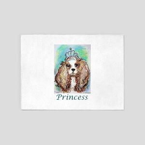 Princess! Puppy, dog, art! 5'x7'Area Rug