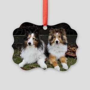 Barn Dogs Picture Ornament