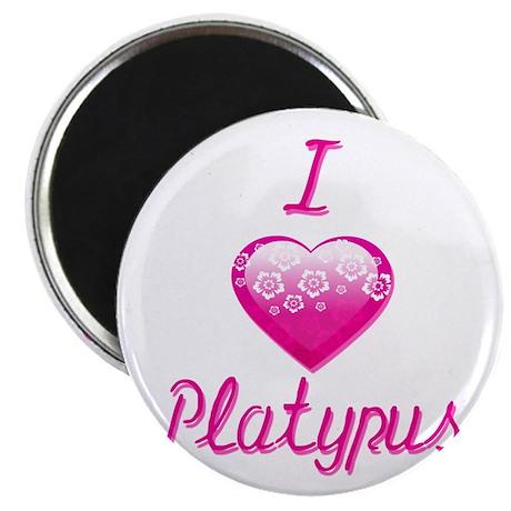 I Love/Heart Platypus Magnet