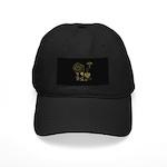 Steampunk Russo Victorian Time Contrapti Black Cap
