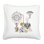 Steampunk Russo Victorian Tim Square Canvas Pillow