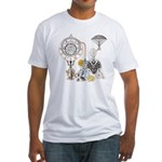 Steampunk Russo Victorian Time Cont Fitted T-Shirt