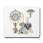 Steampunk Russo Victorian Time Contrapti Mousepad