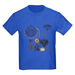 Steampunk Russo Victorian Time C Kids Dark T-Shirt