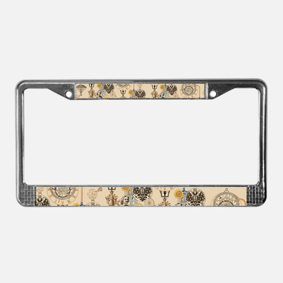 Steampunk Russo Victorian Time License Plate Frame