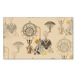 Steampunk Russo Victorian Time Sticker (Rectangle)