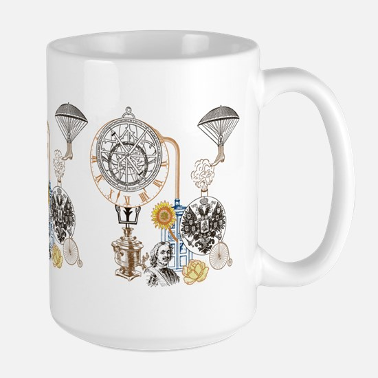 Steampunk Russo Victorian Time Contrapt Large Mug