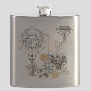 Steampunk Russo Victorian Time Contraption Flask