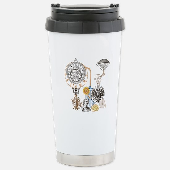 Steampunk Russo Victori Stainless Steel Travel Mug