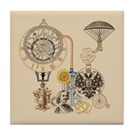 Steampunk Russo Victorian Time Contra Tile Coaster