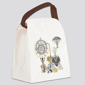 Steampunk Russo Victorian Time Co Canvas Lunch Bag