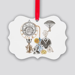 Steampunk Russo Victorian Time Co Picture Ornament