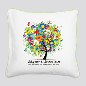 2-FAMILY TREE ONE MORE Square Canvas Pillow