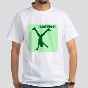 i cartwheel White T-Shirt