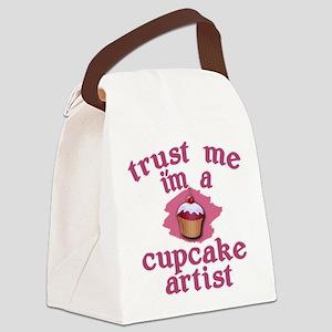 Trust Me I'm a Cupcake Artist Canvas Lunch Bag