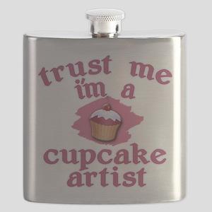 Trust Me I'm a Cupcake Artist Flask