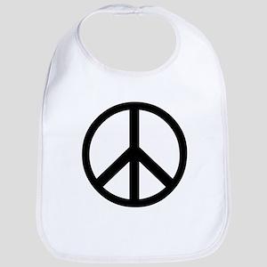 Peace Sign Symbol Bib