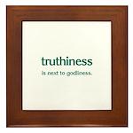 Truthiness Framed Tile