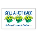 Hot Babe Rectangle Sticker