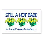 Hot Babe Rectangle Sticker