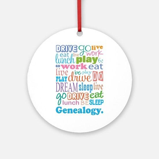 Genealogy Ornament (Round)