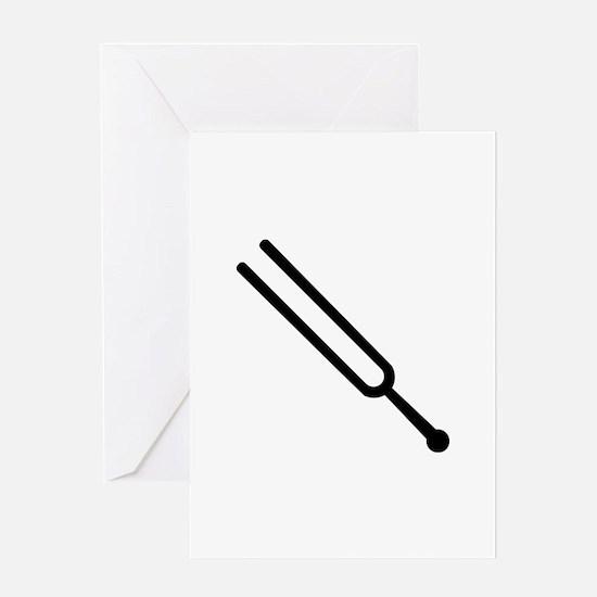 Tuning fork Greeting Card