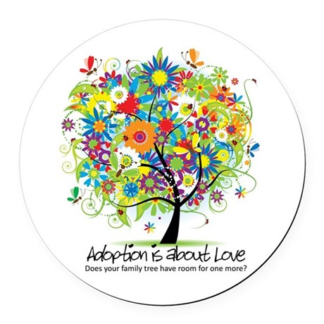 2-FAMILY TREE ONE MORE.png Round Car Magnet