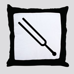Tuning fork Throw Pillow