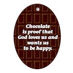 Chocolate Oval Ornament