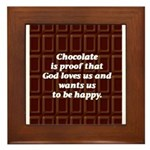 Chocolate Framed Tile