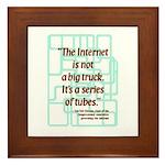 Internet Tubes Framed Tile