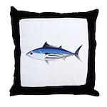 Skipjack Tuna fish Throw Pillow