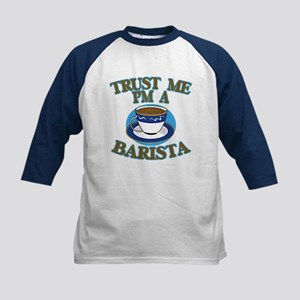 Trust Me I'm a Barista Kids Baseball Jersey