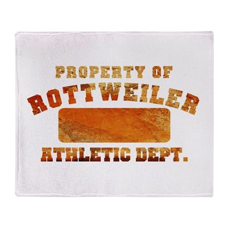Property of Rottweiler Throw Blanket