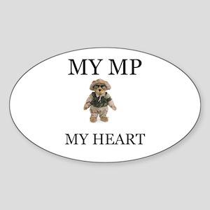 MY MP MY HEART Oval Sticker