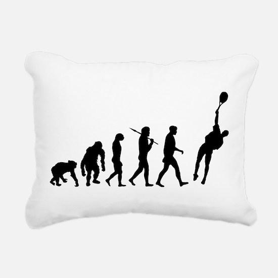 Evolution Tennis Rectangular Canvas Pillow