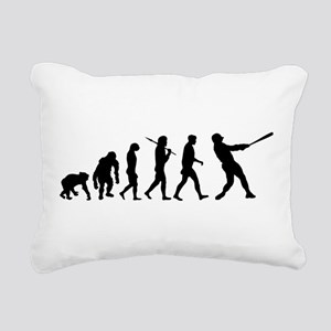 Evolution of Baseball Rectangular Canvas Pillow
