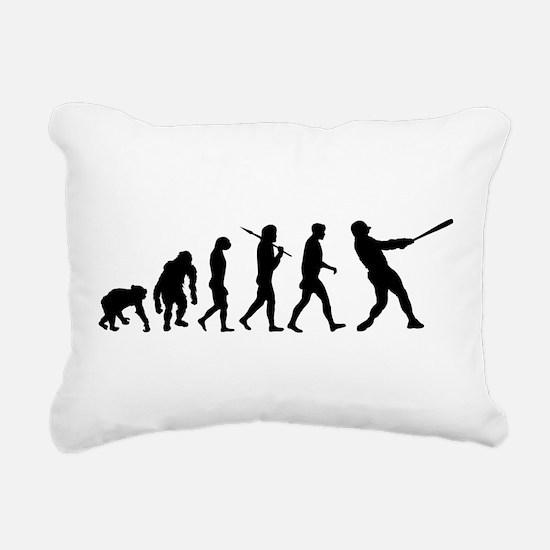 Evolution of Baseball Rectangular Canvas Pillow