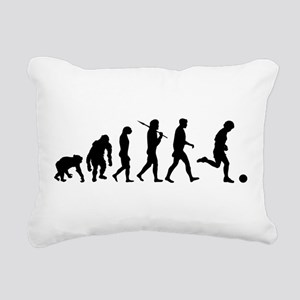 Evolution of Soccer Rectangular Canvas Pillow