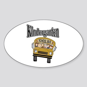 School Bus Kindergarten Oval Sticker