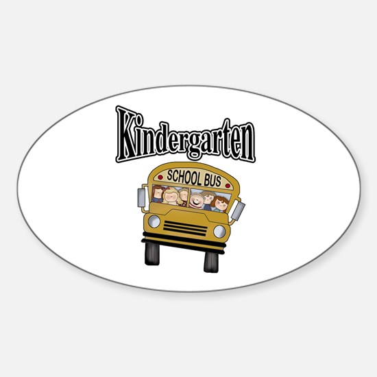 School Bus Kindergarten Oval Decal