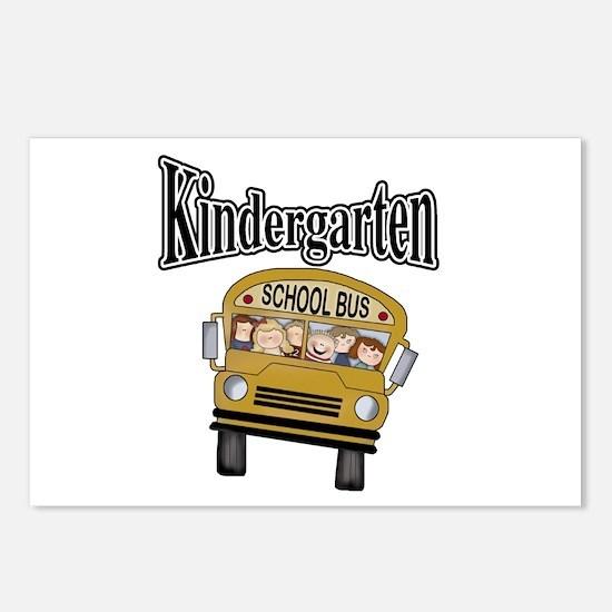 School Bus Kindergarten Postcards (Package of 8)