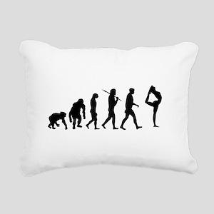 Evolution of Gymnastics Rectangular Canvas Pillow