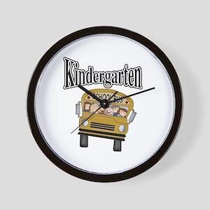 School Bus Kindergarten Wall Clock
