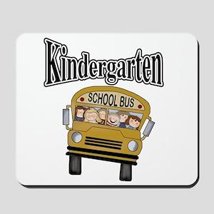 School Bus Kindergarten Mousepad